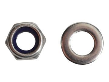 Nyloc Nuts & Washers A2 Stainless Steel M6 ForgePack 20
